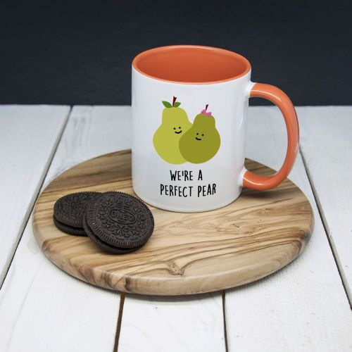 """We're A Perfect Pear"" Romantic Mug"